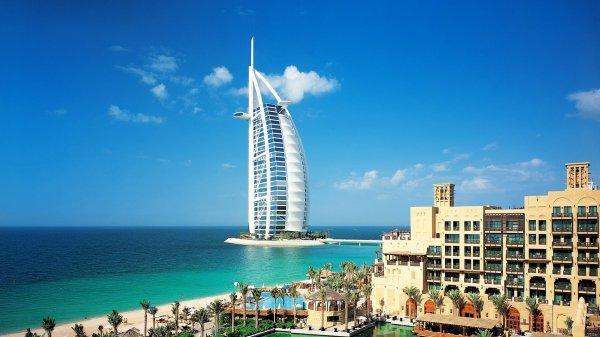 迪拜帆船酒店景色高清电