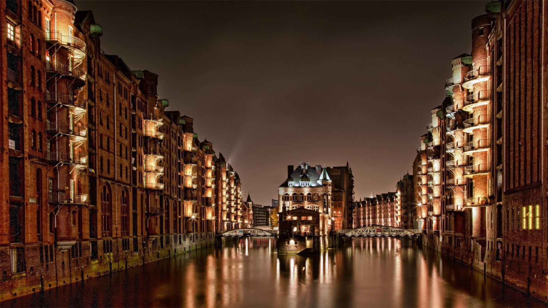 德国汉堡景色高清电脑桌面