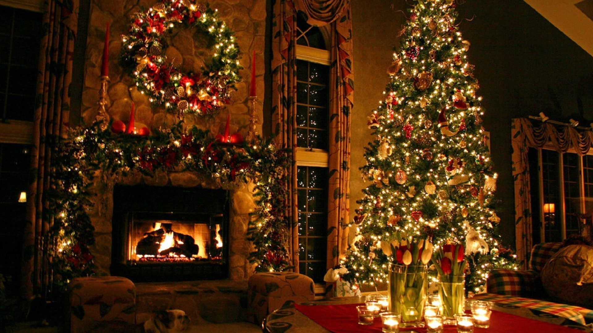圣诞节圣诞树高清电脑桌面