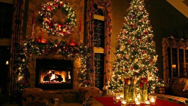 圣诞节圣诞树高清电脑桌