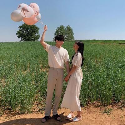 甜甜的2021迷人的七夕真人情侣2021最新头像