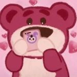 粉色小熊唯美2021最新头像高清写真