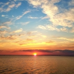 太阳落山夕阳的美景 唯美落日余晖图片