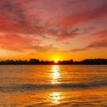 海边晚霞唯美头像图片 高清唯美心旷神怡