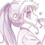 紫粉色系女生头像动漫 高清可爱的动漫女生头像紫粉色系图片